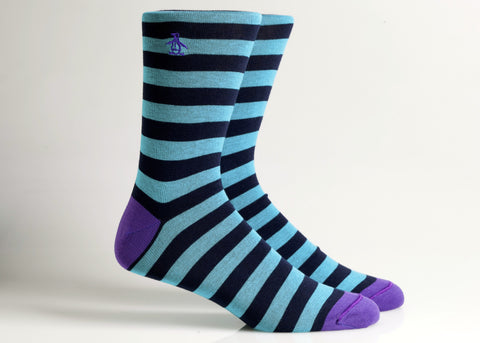 Chic Striped (Teal Blue/Black)