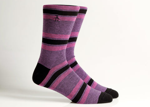 Engineered Stripe Sock (Black)
