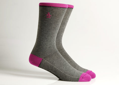 Solid Sock (Charcoal/Berry)