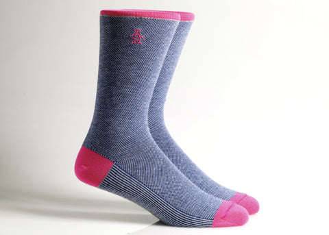 Solid Sock (Navy/Berry)