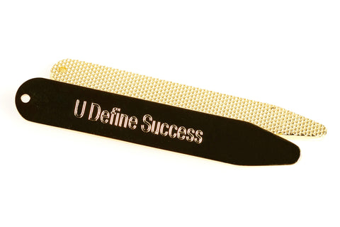 """Hidden Talent"" Collar Stays (Brass)"