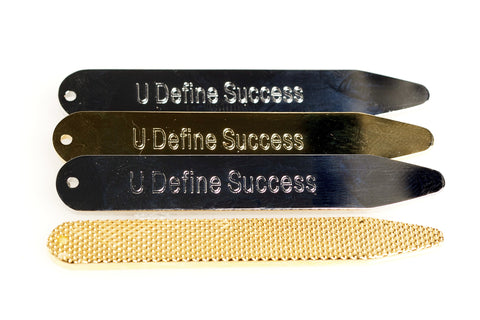 """Hidden Talent"" Silver & Brass Collar Stays Pack"