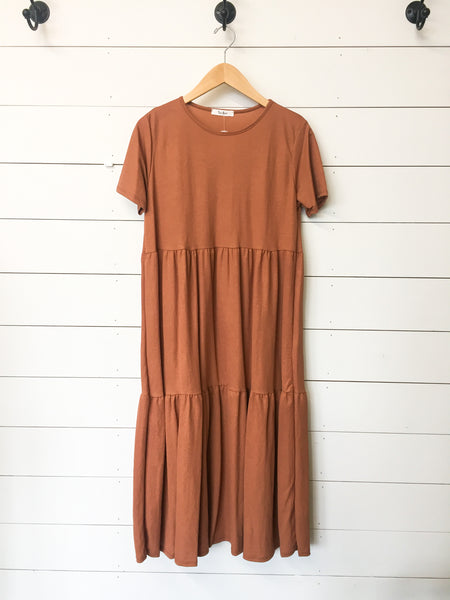 Rusty Tiered Dress