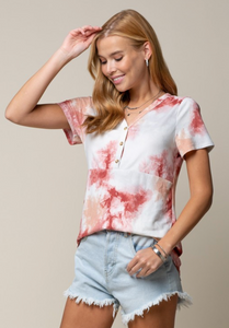 Strawberry Tie Dye Tee
