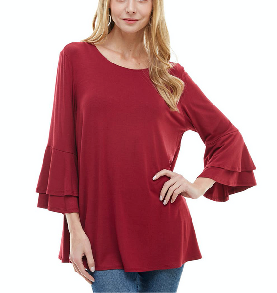 Double Layer Bell Sleeve