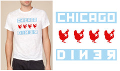 T-Shirt: Chicago Flag