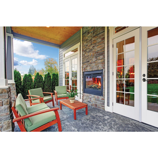 10-Lite Primed Fiberglass & Dual Pane Clear Glass French Patio Door