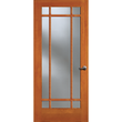 9-Lite Doug Fir Wood & Single Pane Clear Glass French Patio Door