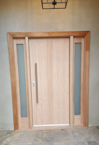 Avalon - Modern Flush Design Mahogany Door