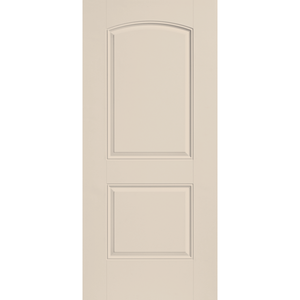 Belleville Smooth Fiberglass 2 Panel Smooth Arch Top Classic Door