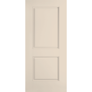 Belleville Smooth Fiberglass 2 Panel Smooth Square Top Classic Door