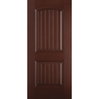 Belleville Smooth Fiberglass Cheyenne Cottage 2 Panel Mahogany Classic Door