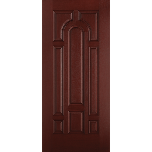 Belleville Smooth Fiberglass Parliament Style 8 Panel Mahogany Classic Door