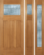 Brooks - Craftsman Design Mahogany Wood Door with Beveled Glass