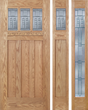 Cade - Craftsman Design Oak Wood Door with Beveled Glass