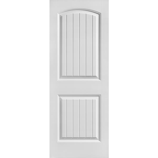 Interior Classic 2-Panel with Groove Arch Top Primed Door