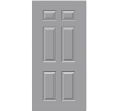 Commercial 18-Gauge 6-Panel Hollow Metal 3-Hours Fire Rated Door