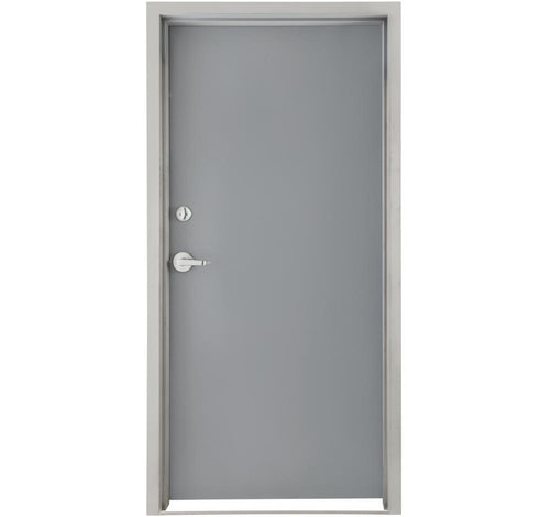 Commercial 18-Gauge Flush Hollow Metal 3-Hours Fire Rated Door