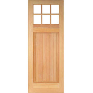 Ellis - Craftsman Doug Fir Wood with Clear Glass Entry Door