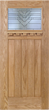 Emely - Craftsman Design Oak Wood Door with Beveled Glass