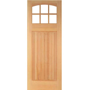Gamble - Craftsman Doug Fir Wood with Clear Glass Entry Door