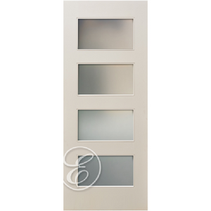 Interior 4-Panel Lites Acid Etch Glass Primed Door