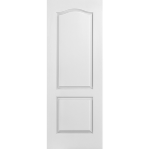 Interior Classic 2-Panel Small Arch Top Primed Door
