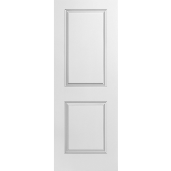 Interior Classic 2-Panel Square Top Primed Door