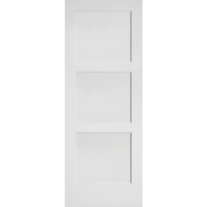 Interior Flat 3-Panel Shaker Primed Door