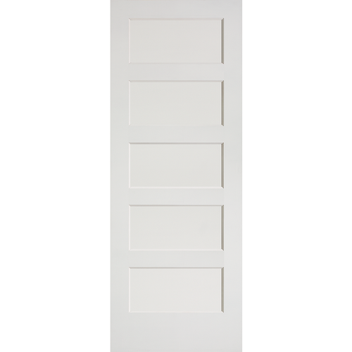 Interior Flat 5-Panel Shaker Primed Door