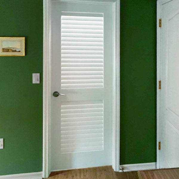 Interior Louver Panel Primed White Door