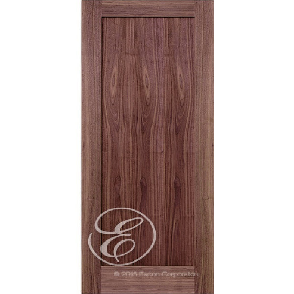 Interior Modern 1-Panel Shaker Walnut Wood Door