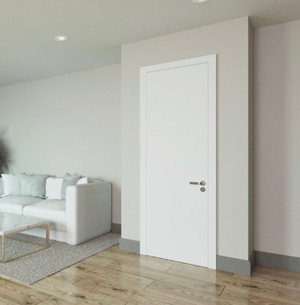 Interior Solid Core Flush Primed White Door