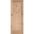 "Interior Knotty Alder Door 1-Panel Shaker Door Square Sticking [1-3/8"" Thick]"