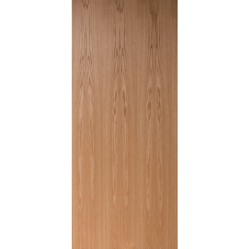 Flush Clear Finish Plain Sliced Red Oak Commercial Fire Rated Door