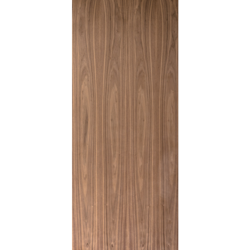 Flush Unfinished Plain Sliced Black Walnut Commercial Fire Rated Door