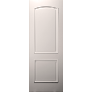 Paint Grade 20-Min Fire Rated 2-Panel Arch Top Primed Door