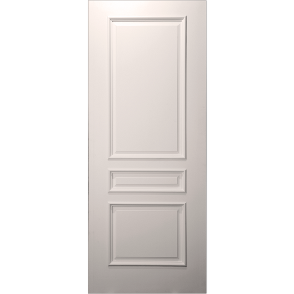 Paint Grade 20-Min Fire Rated 3-Panel Square Top Primed Door