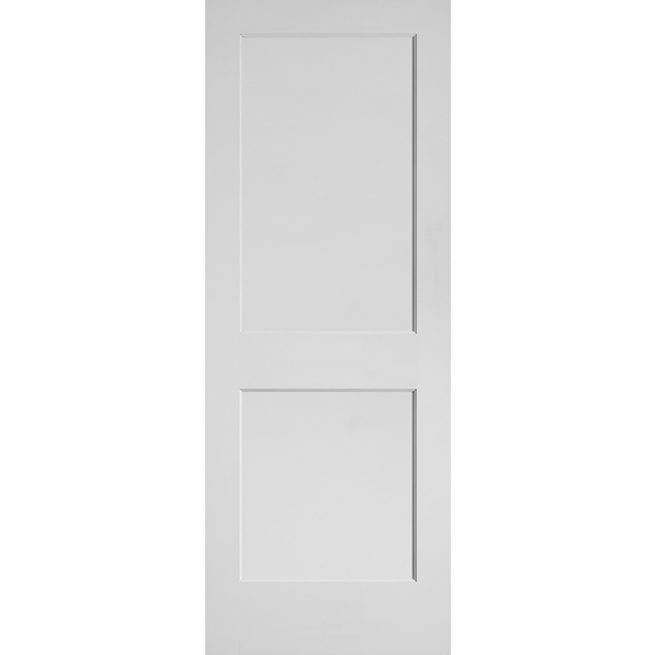 Interior 20-Min Fire Rated Shaker Flat 2-Panel Primed Door