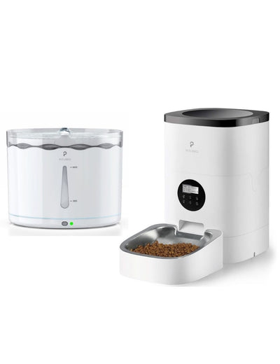 4L Stainless Steel Bowl Pet Feeder & 2.2L Water Fountain Bundle - Petlibro