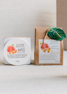 Cottage Greenhouse Grapefruit & Blood Orange Salt Scrub 12oz