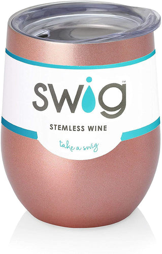 Swig 12oz Wine Tumbler - Rose Gold