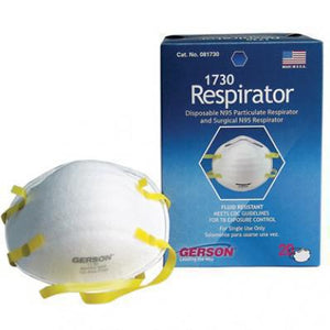 N95 NIOSH Approved Gerson 1730 - One Face Mask