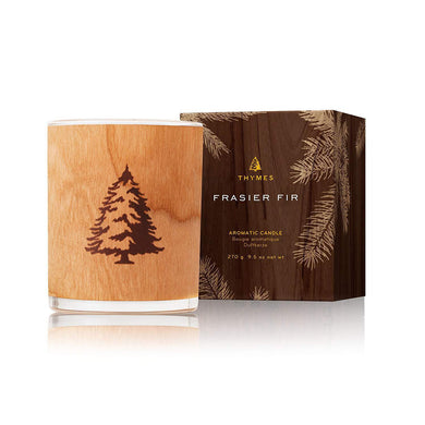 Thymes Frasier Fir Seasonal Wood Wick Candle 9.5oz