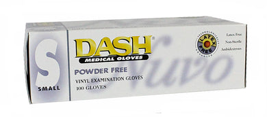 Powder Free Vinyl Gloves Small 100 Count (Dash Nuvo)
