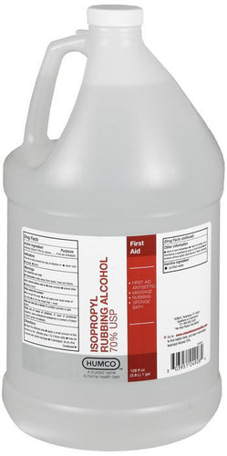 Isopropyl Rubbing Alcohol 128 oz. (Humco)