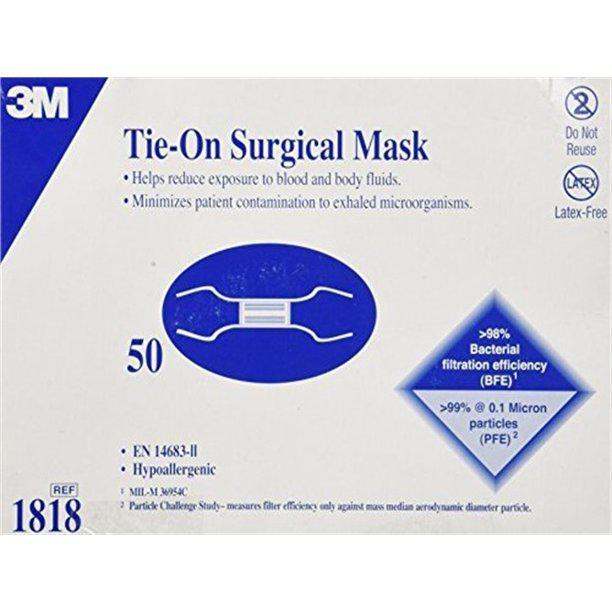 Tie- on Surgical Mask