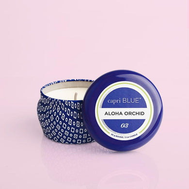 Aloha Orchid Blue Signature Mini Tin, 3 oz
