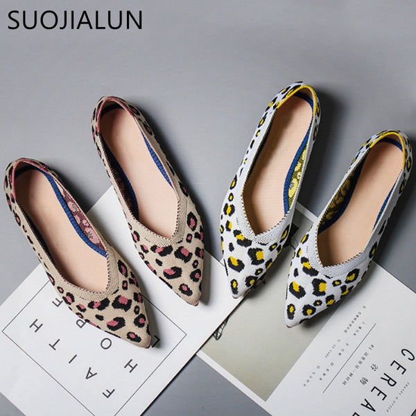 SUOJIALUN Leopard Print Women Shoes