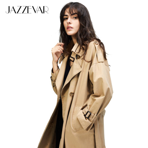 JAZZEVAR Autumn New Casual Trench Coat